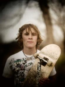Austin. Skateboarder.